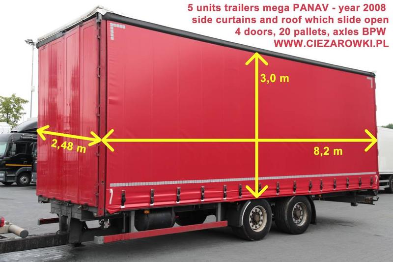 Panav TRAILER MEGA CURTAIN TV 18LPK 20 PALLETS