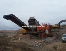 Constmach Mobile Jaw + Cone Crusher CE CERTIFICATED