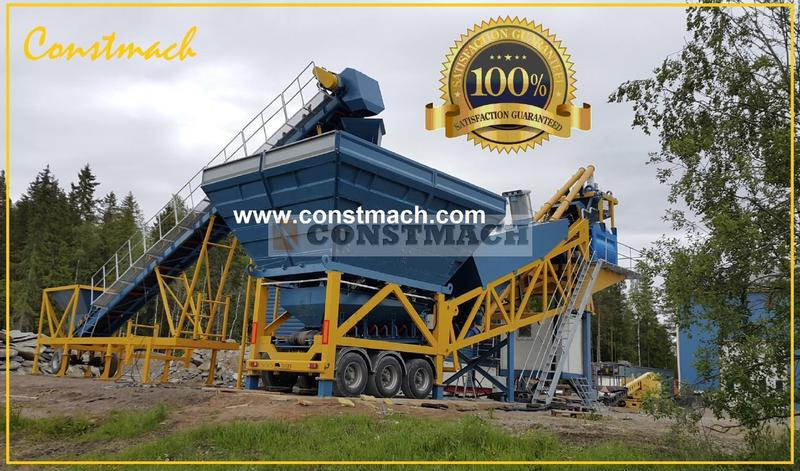 Constmach Mobile 100 m3/h - 2 YEARS WARRANTY