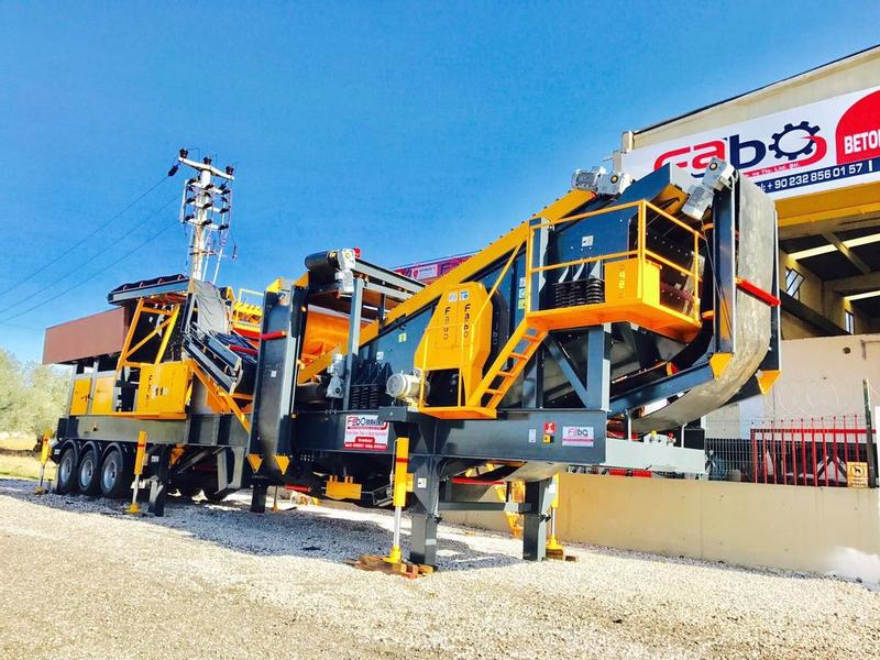 Fabo MOBILE STONE CRUSHING AND SCREENING PLANT FOR LIMESTONE