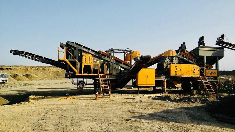 Fabo MTK150-200TPH MOBILE CRUSHING&SCREENING PLANT–SAND MACHINE